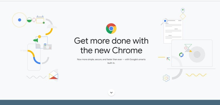Google Chrome change interface and some new features