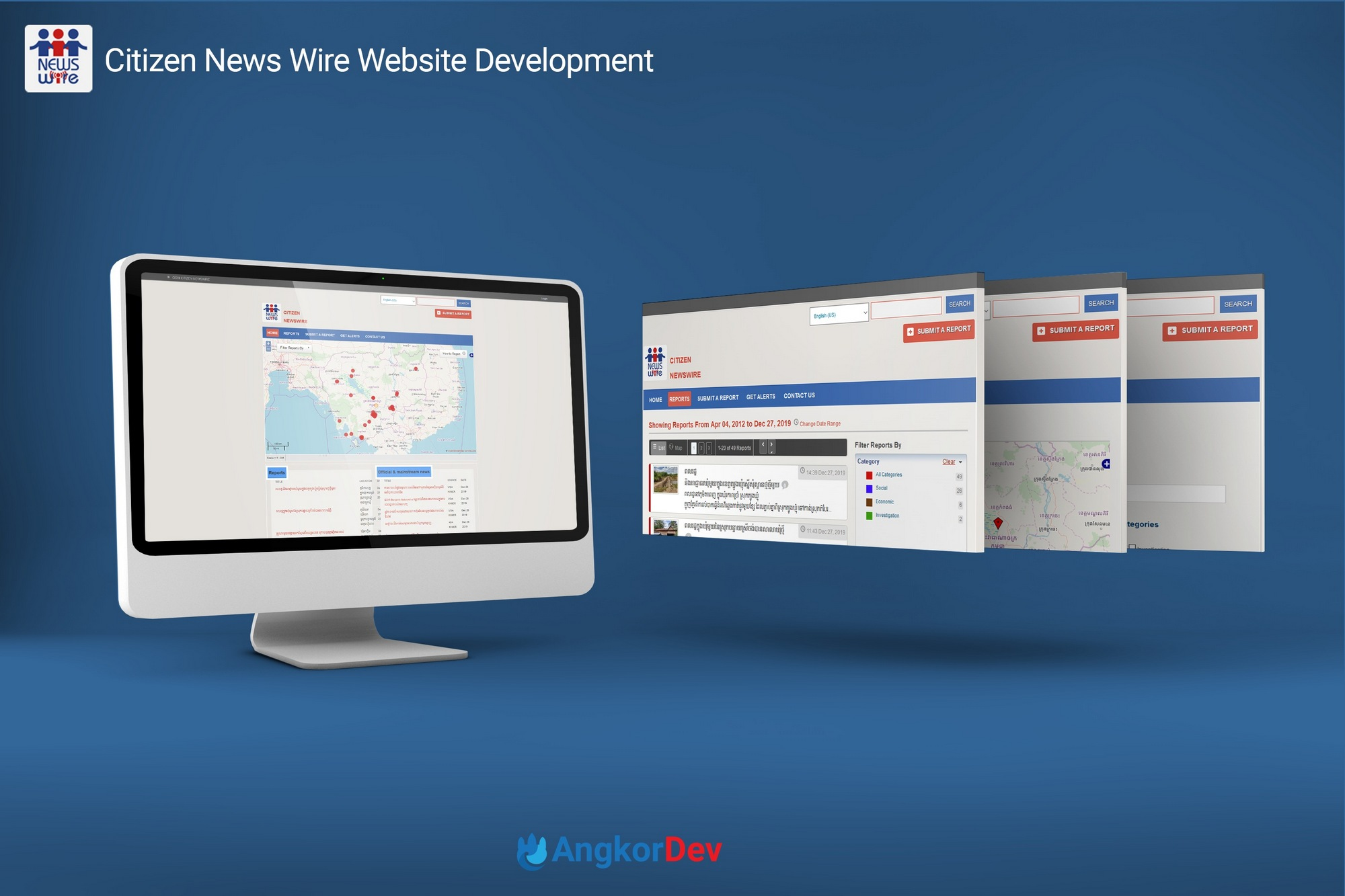 Citizen Newswire Web Application Development